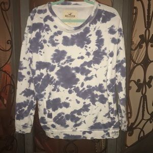 Hollister blue and white tie dye sweatshirt size S
